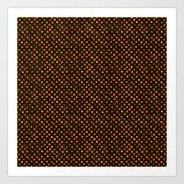 Retro Colored Dots Fabric Pumpkin Orange Art Print