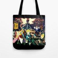 final fantasy Tote Bags featuring Final Adventure Fantasy Time! by Noel Castillo