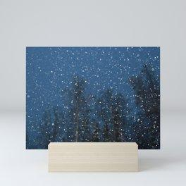 Falling Snow 3 Mini Art Print