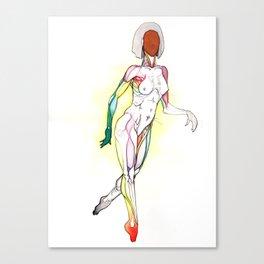 Cosmopolitan, Nude female anatomy, NYC artist Canvas Print