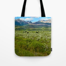 Colorado cattle ranch Tote Bag