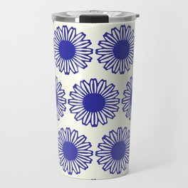 vintage flowers blue  Travel Mug
