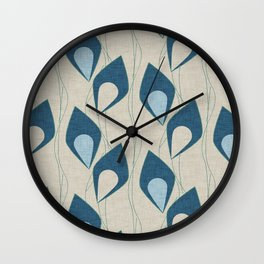 Climbing Vines Pearl Blue Wall Clock