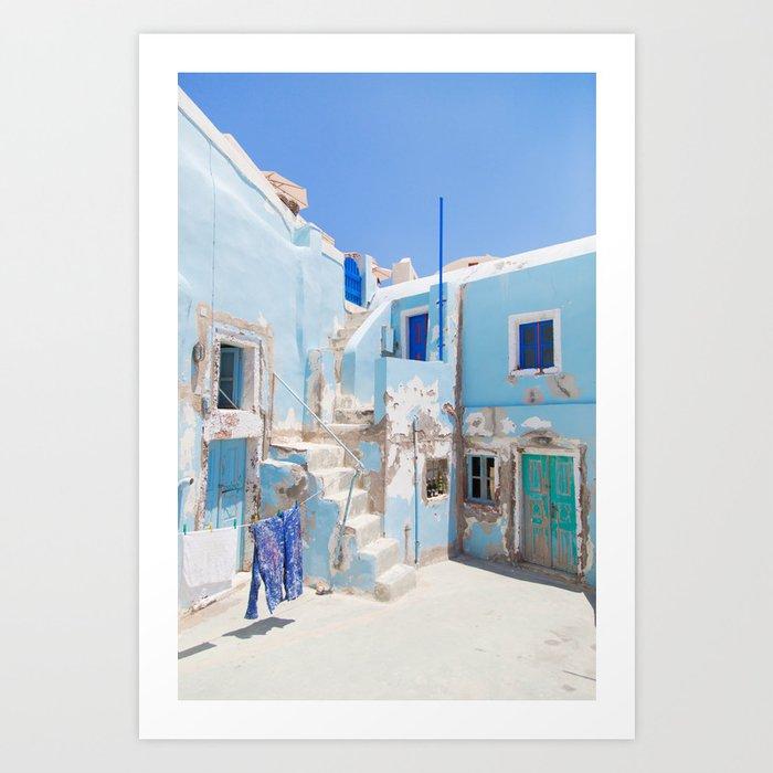 SANTORINI SERIES #1 Art Print
