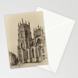 York Minster aged Stationery Cards
