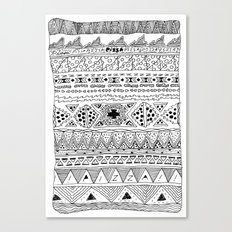 Pizza Pattern (black) Canvas Print