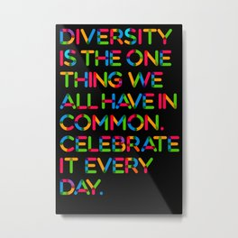 DIVERSITY (BLACK VERSION) Metal Print