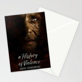 A History of Violence, David Cronenberg movie poster, Viggo Mortensen, Ed Harris Stationery Cards