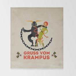 Gruss vom Krampus II Throw Blanket