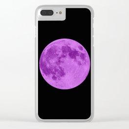 MOON GLOW PURPLE Clear iPhone Case