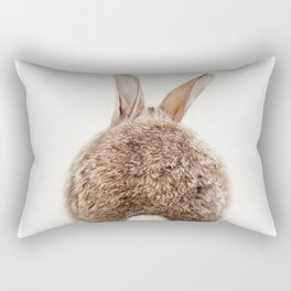 Bunny Tail, Bunny Rabbit, Baby Animals Art Print By Synplus Rectangular Pillow