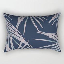 Blush Blue Palm Leaves Dream #1 #tropical #decor #art #society6 Rectangular Pillow