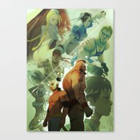 street fighter Canvas Prints featuring Street Fighter by jaimito