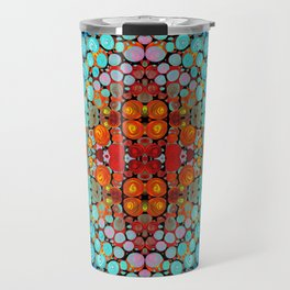 Inner Vision - Colorful Spiritual Abstract Art By Sharon Cummings Travel Mug