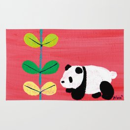Green and Panda Rug