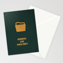 Lab No. 4 - Memories Stay, People Don't Corporate Start-Up Quotes Poster Stationery Cards