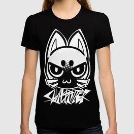 metal cat icon T-shirt