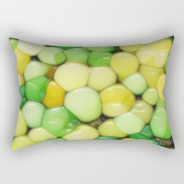 Lemon Lime Abstract Rectangular Pillow