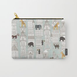 urban jungle silver mint Carry-All Pouch
