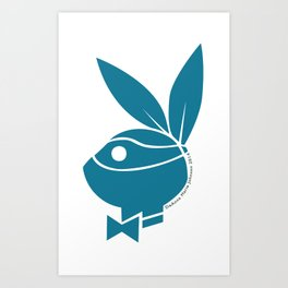Playboy Turtle: Leonardo Art Print