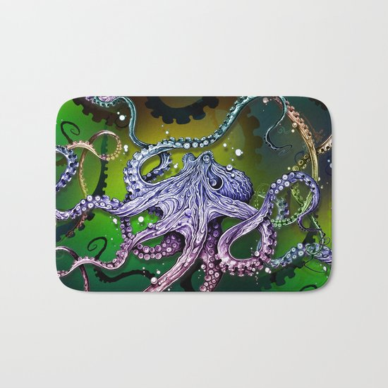 Rainbow Octopus Bath Mat