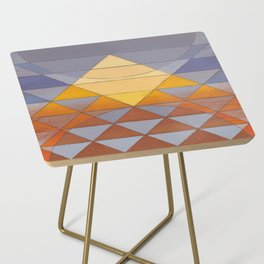Pyramid Sun Mauve Purple Side Table