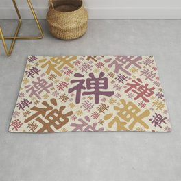 Japanese Zen Symbol pattern - pastels Rug