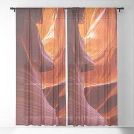 SCULPTURE OF NATURE ANTELOPE CANYON ARIZONA PHOTOGRAPHY Sheer Curtain