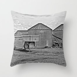 Silo at the Farm Throw Pillow