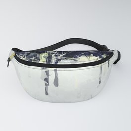 Modern Indigo Eclipse Abstract Design Fanny Pack