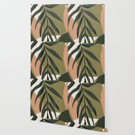 Tropical Leaf- Abstract Art Wallpaper