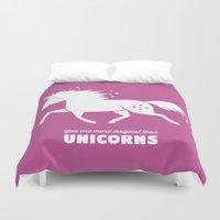 unicorn Duvet Covers featuring Unicorn by ellis