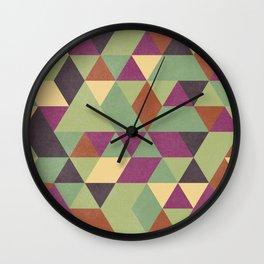 TRIANGLES geometric print Wall Clock