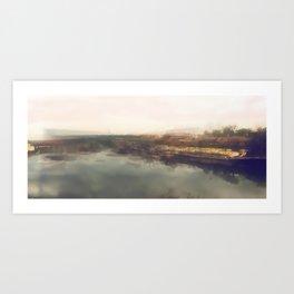 Lock & Dam No. 1 Panoramic Art Print