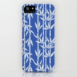 Bamboo Rainfall in China Blue/Seashell White iPhone Case
