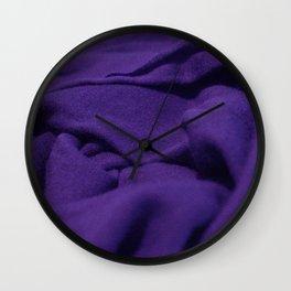 Purple Velvet Dune Textile Folds Concept Photography Wall Clock