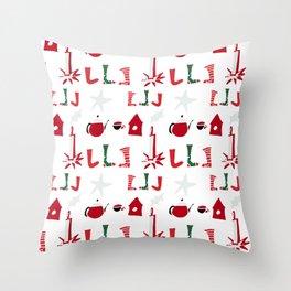 Christmas Cosy white Throw Pillow