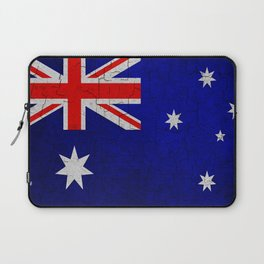 Cracked Australia flag Laptop Sleeve