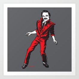 Barney Thriller Art Print