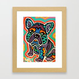 Eddie Designer Dog Puppy Pet Series Colorful Bright French Bulldog Pug Terrier Non Sporting Breeds Framed Art Print