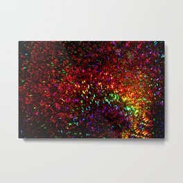 Fascination in gold-photograph of colorful lights Metal Print