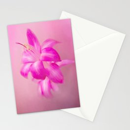 Pink Christmas Cactus Stationery Cards