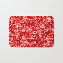 Blood Red Cobwebs Bath Mat