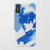 nightwing iPhone & iPod Cases featuring Nightwing Gradient #01 by markclarkii