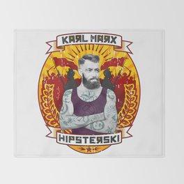Karl Marx Hipster Throw Blanket