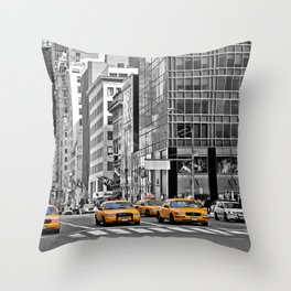 NYC Yellow Cabs NYPD - USA Throw Pillow