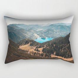 Mountains and lake Rectangular Pillow