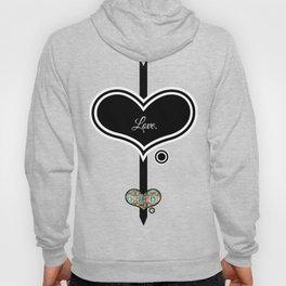 Love. (Black)  Hoody