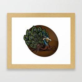 Mutant Zoo - Peacockroach Framed Art Print