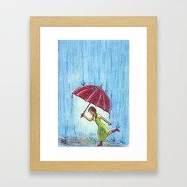 Caught in the Storm Framed Art Print
